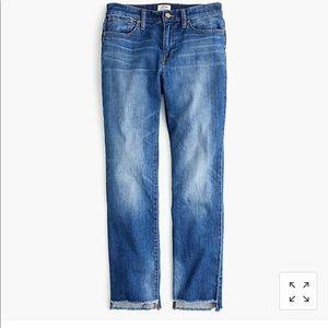 P25 slim broken-in boyfriend jean with step hem